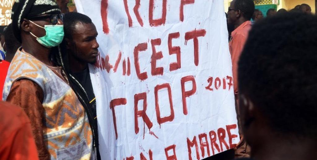 Vives protestations populaires contre la loi de finances 2018 — Niger